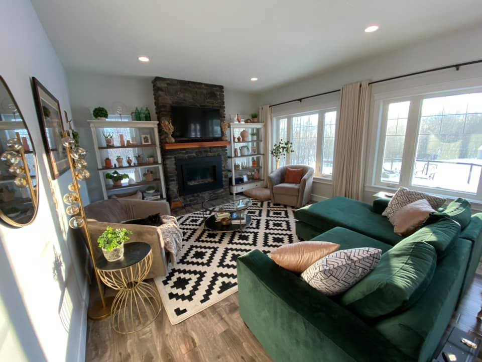 Living room redesign by JMS Construction