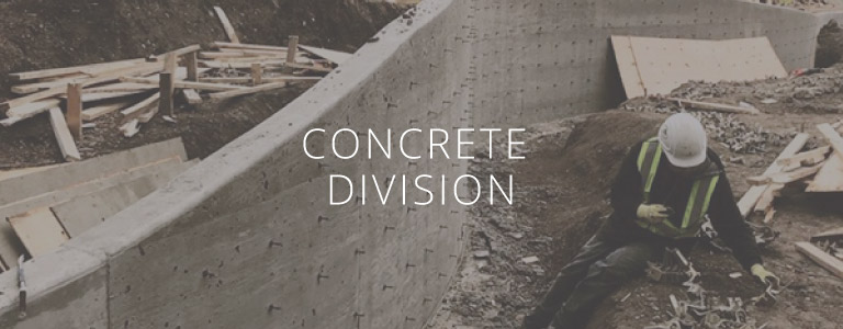 JMS Construction services include a concrete division
