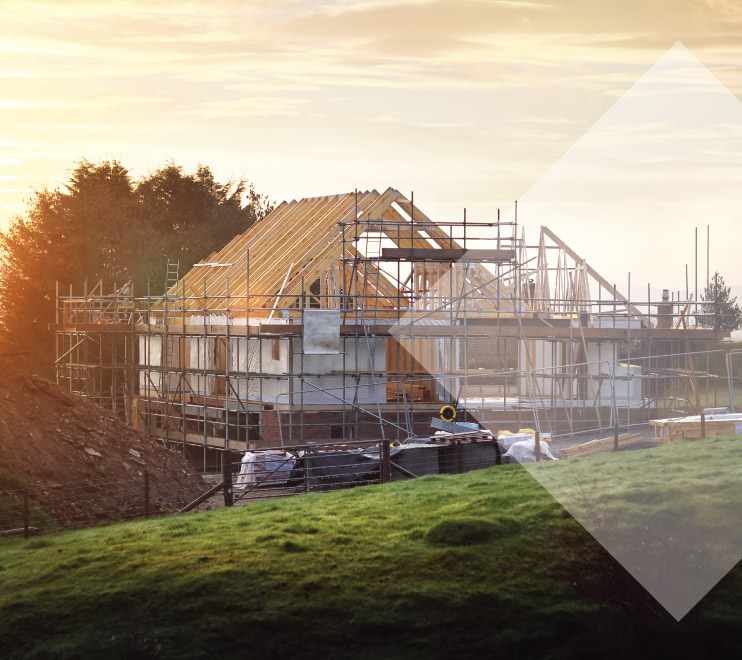 Residential home being built by JMS Construction